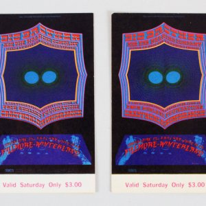 1968 Big Brother And The Holding Company Concert Ticket Vintage Day 3 Lot (2)
