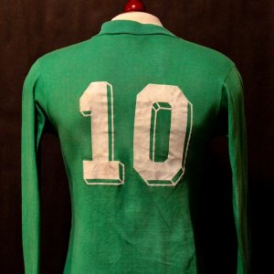 A Michel Platini Game-Used #10 St. Etienne Shirt.  Circa 1979-1982.