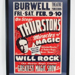 Thurston's Miracles of Magic Poster Display