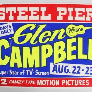 Glen Campbell Concert Poster