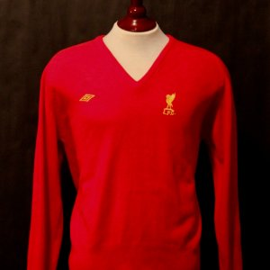 A Kenny Dalglish Game-Used Liverpool FC Club Sweater.  Circa 1970's.