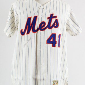 Tom Seaver Signed Jersey New York Mets - COA