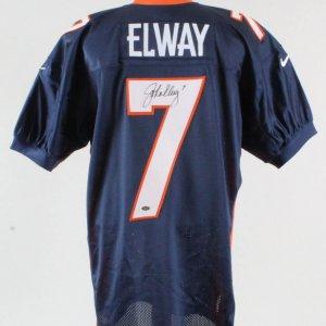 John Elway Signed Jersey Denver Broncos - COA