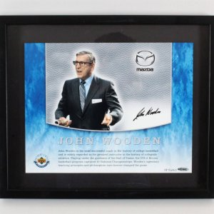John Wooden Signed Photo Display UCLA Bruins - COA UDA