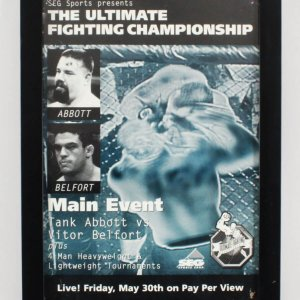 UFC 13: The Ultimate Force Poster Vitor Belfort vs. Tank Abbott SEG
