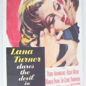 1955 Lana Turner Dares The Devil In Diane Movie Poster One Sheet 56/13