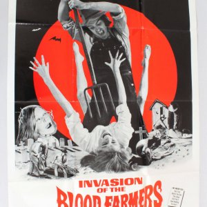 1972 The Invasion Of The Blood Farmers Movie Poster One Sheet Vintage