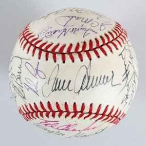 1969 Mets Team-Signed Baseball Reunion (26) Tom Seaver, Nolan Ryan, etc. - JSA