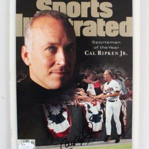 Cal Ripken Jr. Signed SI Magazine - COA JSA