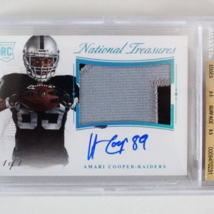 2015 National Treasures Amari Cooper Signed Graded 1/1 RC Card - BGS 9.5/9