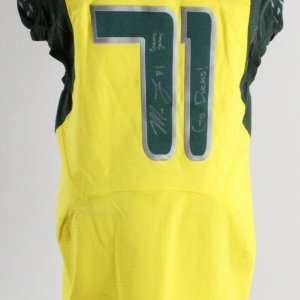 Mark Lewis Game-Used Jersey 2006-07 Oregon Ducks Signed
