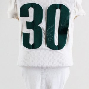 Kwame Agyeman Game-Used Oregon Ducks Jersey Signed Holiday Bowl