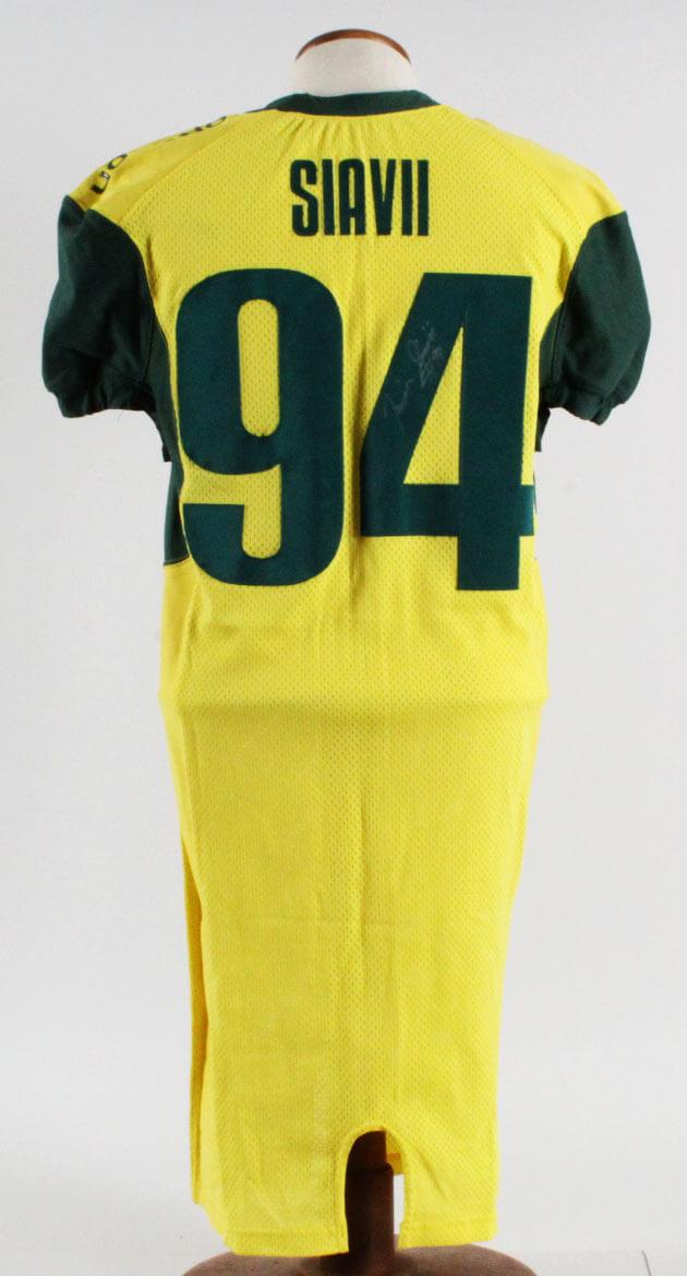 sale retailer 2c006 e8332 Junior Siavii Game-Used Oregon Ducks Jersey 2005-06 Signed
