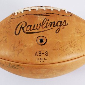 John Elway Signed Football All-American Team w/22 Others - COA JSA