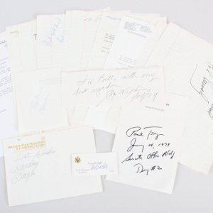 Political Signed Lot (15) - Jim Wright, John Hines etc. - COA JSA