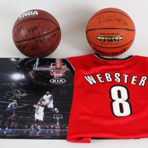 NBA Signed Lot (4) - Kenny Smith, Dan Majerle, etc. - JSA