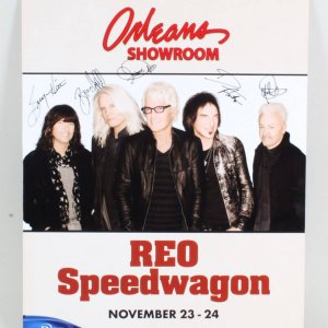 REO Speedwagon Signed Poster