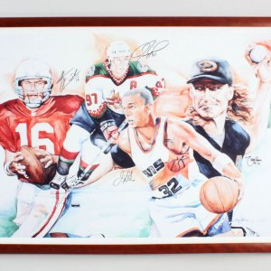 Arizona Sports Signed Litho