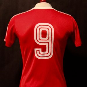 A Gerd Muller Game-Used #9 FC Bayern Munich Home Shirt.  Circa 1970's.