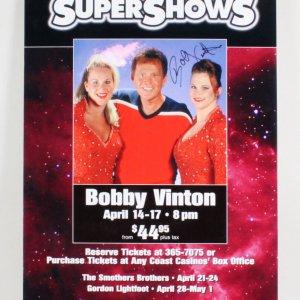 Bobby Vinton Signed Poster - COA JSA