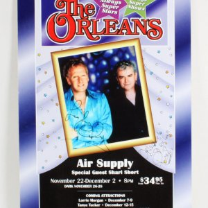 Air Supply Signed Poster - COA JSA