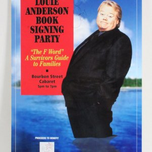 Louie Anderson Signed Poster - COA JSA