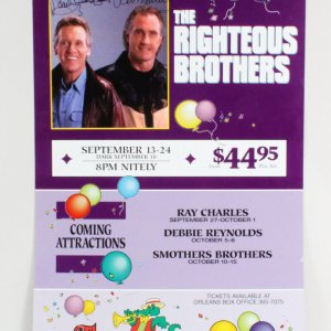 The Righteous Bros Signed Poster - COA JSA