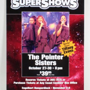 The Pointer Sisters Signed Poster - COA JSA