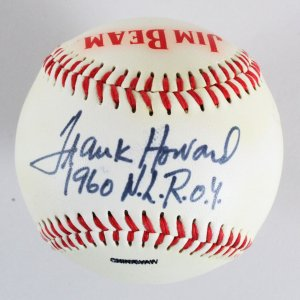 Frank Howard Signed Baseball - COA JSA