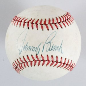 Johnny Bench Signed Baseball - COA JSA