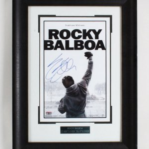 Sylvester Stallone Signed Rocky Photo - COA JSA