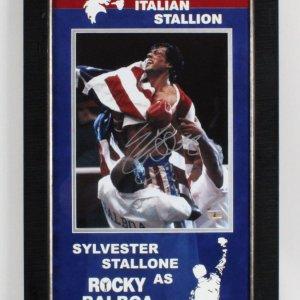 Sylvester Stallone Signed Rocky Photo - COA JSA
