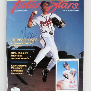 Chipper Jones Signed Magazine - COA JSA