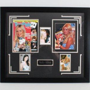 Nicky Hilton Signed Magazine Display - COA JSA