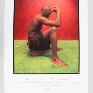 Michael Jordan Lithograph The Warrior