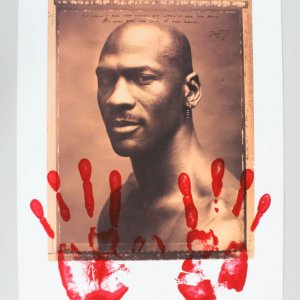 Michael Jordan Hands Lithograph