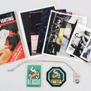 Big John McCarthy Signed UFC Magazine & Rare Credentials Lot  - COA JSA