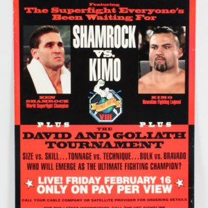 UFC 8 On-Site Poster David vs. Goliath Shamrock vs. Leopoldo SEG