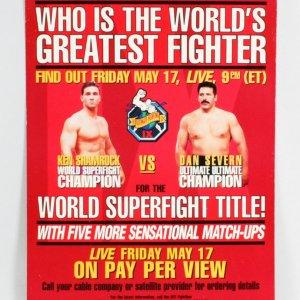 UFC 9 On-Site Poster 24x36 Motor City Madness Shamrock vs. Severn 2