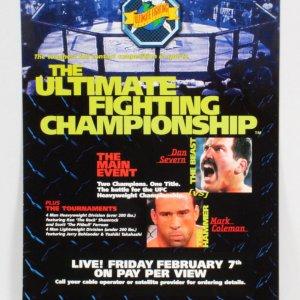 UFC 12 On-Site Poster 24x36 Judgement Day SEG