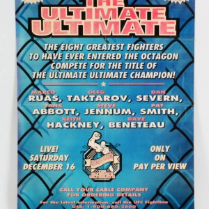 UFC: The Ultimate Ultimate 1995 Poster 22x32 SEG
