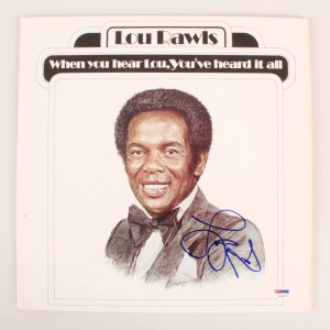 Lou Rawls Signed Album