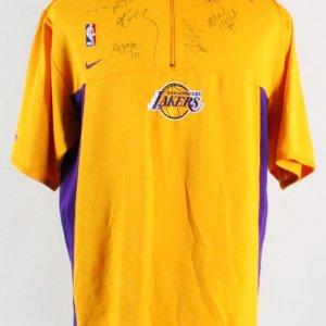 Kobe Bryant Multi-Signed Lakers Shirt - 2001-02 Team - COA JSA