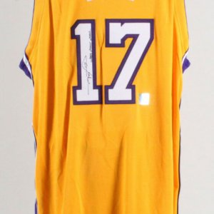 Rick Fox Signed Game Los Angeles Lakers Jersey