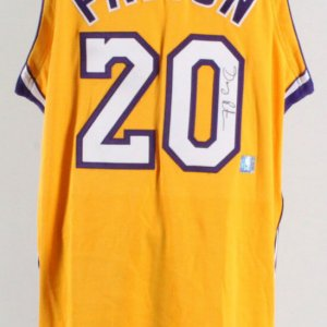 Gary Payton Signed Los Angeles Lakers Game Jersey