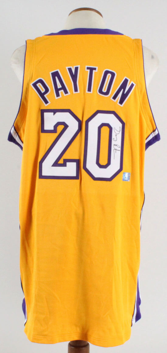 1fc34f61519 Gary Payton Signed Los Angeles Lakers Game Jersey
