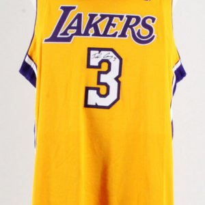 Devean George Signed Game Los Angeles Lakers Jersey & Hat
