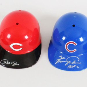 MLB Signed Helmets & Hats Lot (4) - COA JSA