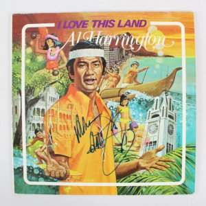 Al Harrington Signed Record Album - COA JSA