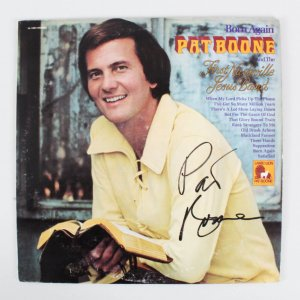 Pat Boone Signed Record Album - COA JSA